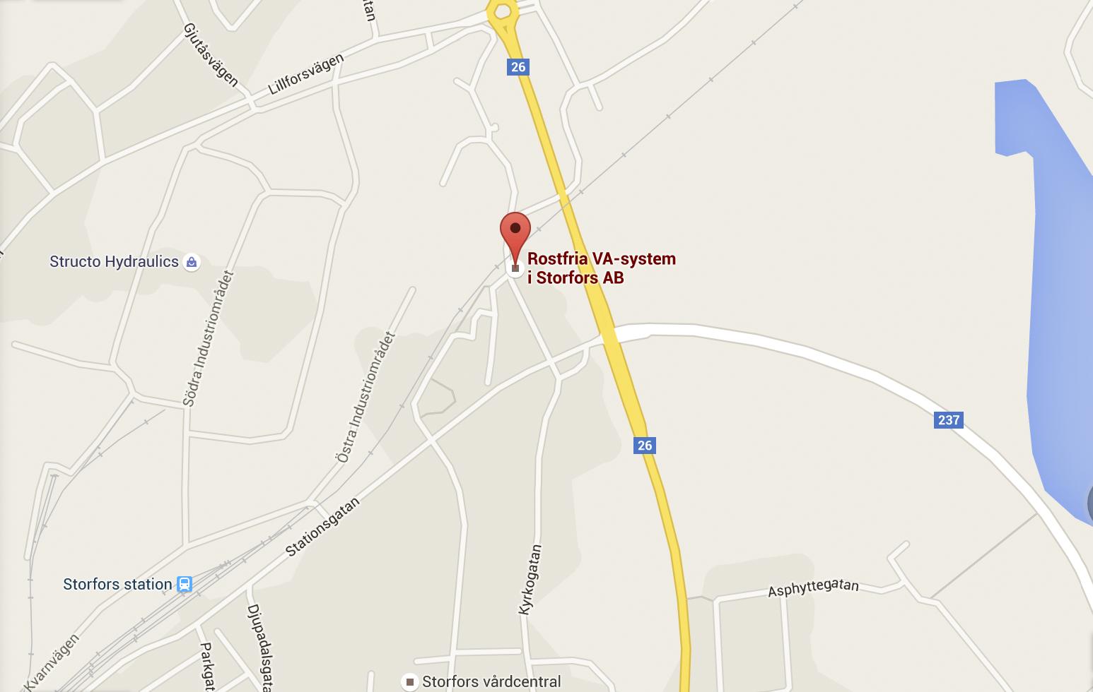 Karta Rostfriapumpstationer