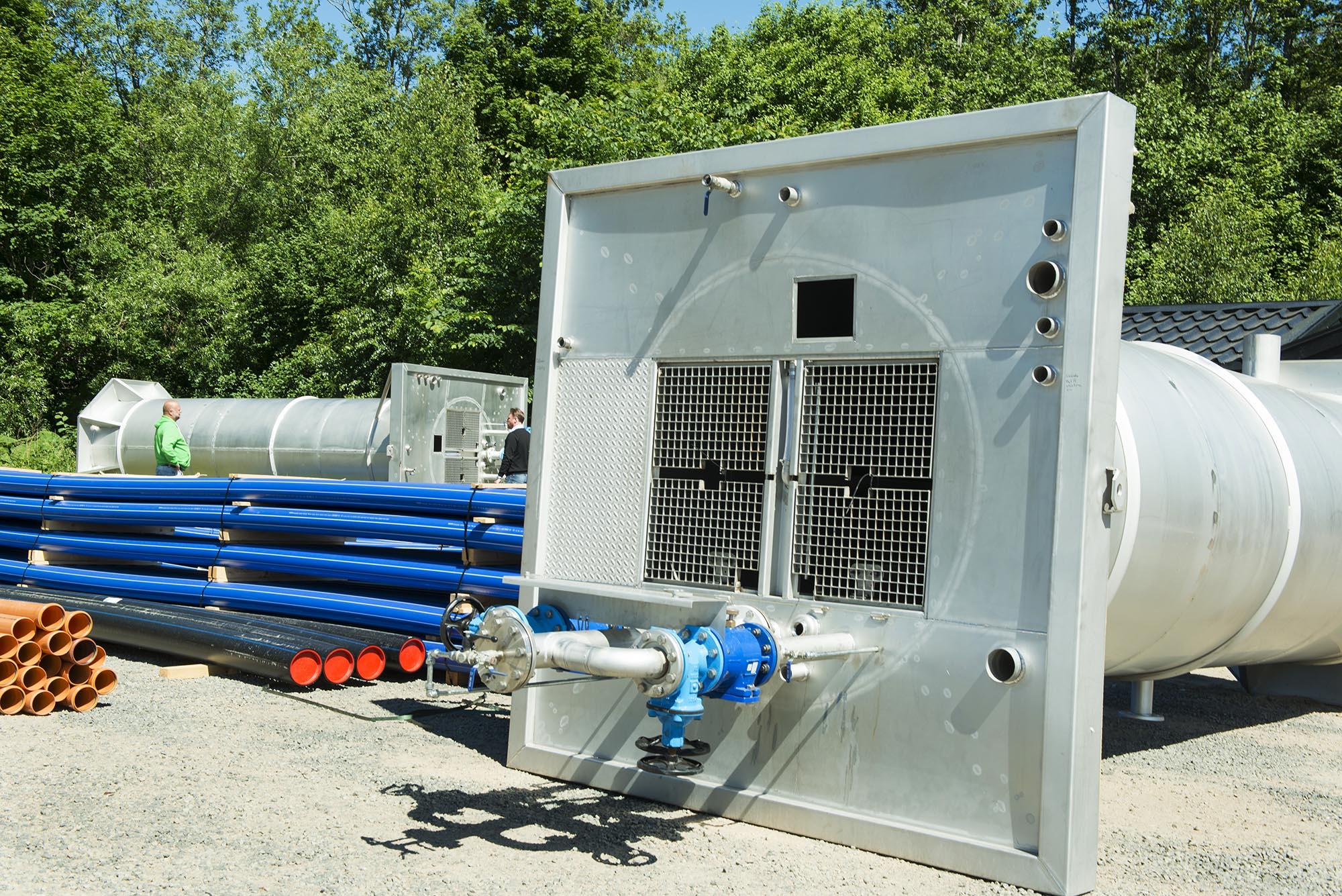 Installation av pumpstation, avloppsstation.