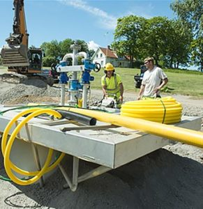 installation av pumpstation, avloppsstation, spillvattenstation,