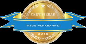 Certifikat från Tryggverksamhet