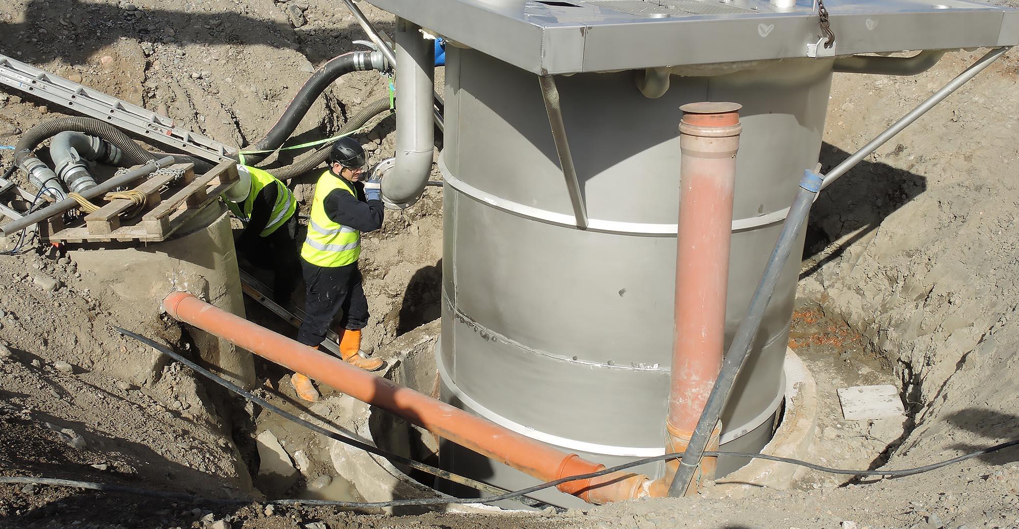 Renovering av betongsump