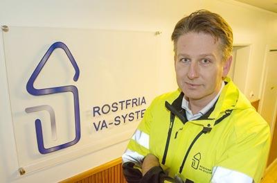 Porträtt Jonas Björkström vd Rostfria VA System